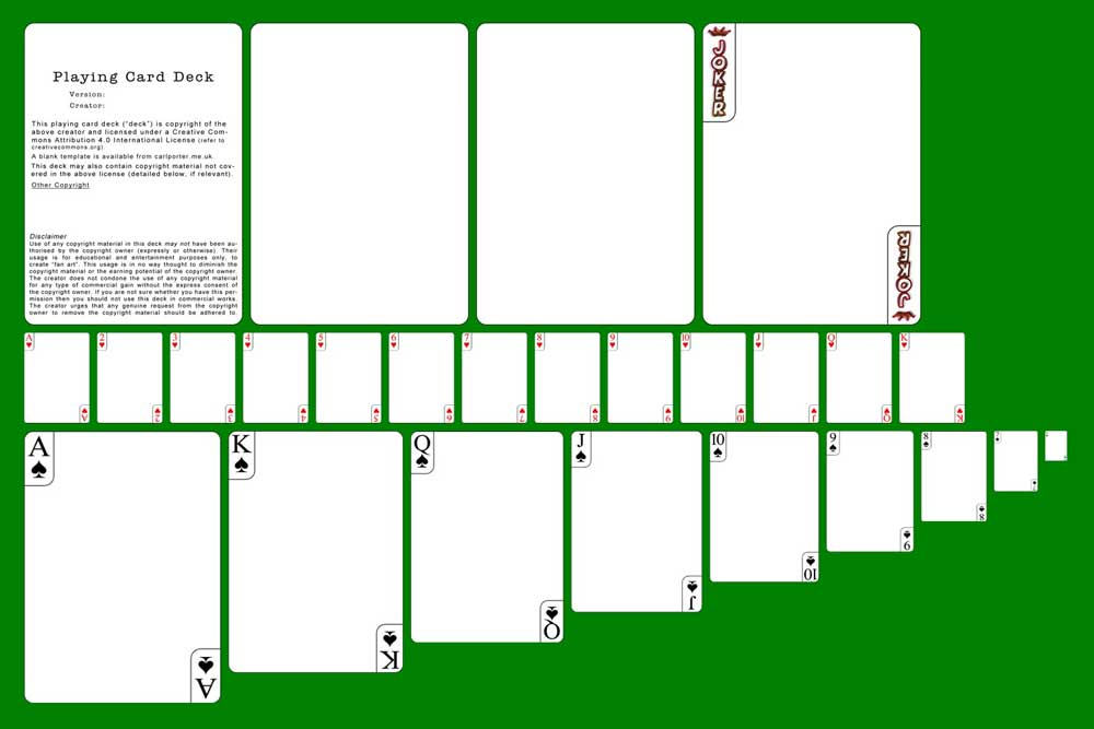 Playing Cards - Blank Template