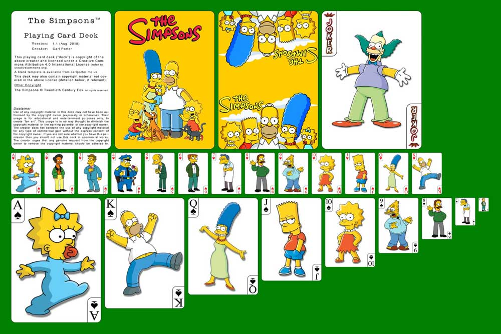 Playing Cards - The Simpsons Deck